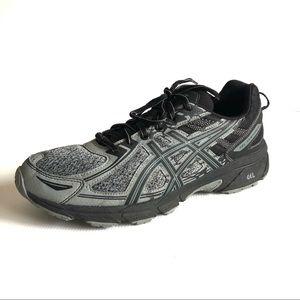 ASICS US10 Gel Venture 6 Grey & Black Running Trail Shoe Urban Explorer Street
